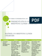 Matrix on Shipping Lines Charges