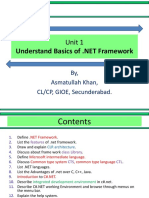 Unit 1 - Understand Basics of .NET Framework