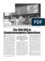 The 19th BCD in Counterinsurgency Operations