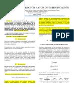 Analisis de Un Rector Batch de Esterificación 2i