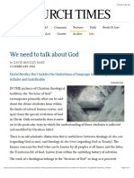 We Need to Talk About God