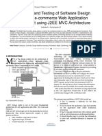 Automation and Testing of Software Design Pattern for e Commerce Web Application Development Using J2EE MVC Architecture