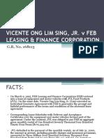 Vicente Ong Lim Sing, Jr