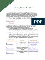 Aplicativos de Cálculo Numérico