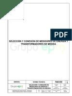 Ra8 030 Selección Conexión Medidores Transformadores Medida