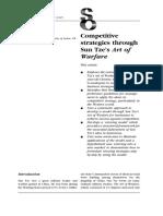 Competitive Strategies Through Sun Tze's Art of Warfare