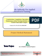 PM Method Statement for a Construction Project