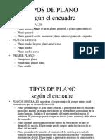 4 Tipos de Planos