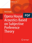 Opera House Acoustics Based on Subjective Preference Theory - Yoichi Ando