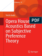Opera House Acoustics Based on Subjective Preference Theory - Yoichi Ando