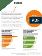 Thomson Reuters Data Privacy Compliance Survey - Jan 2018
