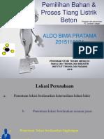 PowerPoint Pemilihan Bahan Dan Proses Pembuatan Tiang Listrik Beton