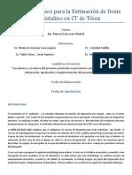 Protocolo Clínico Para La Estimación de Dosis en Cristalino en CT de Tórax