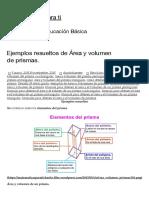 Ejercicios Área y volumen de prismas