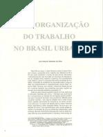 A (Des)Organização Do Trabalho No Brasil Urbano