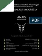 Anais IV Simposio Internacional de Musicologia e VI Encontro de Musicologia Historica - Pirenopolis 2014