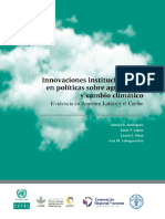 Innovaciones Institucionales en Políticas Agricultura y CC
