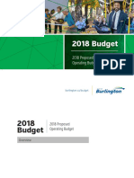 City of Burlington 2018 Proposed Operating Budget Book