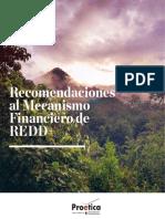 Recomendaciones al Mecanismo Financiero de REDD+