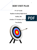 final archery unit plan