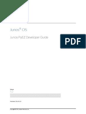 junos-pyez-developer-guide pdf | Command Line Interface