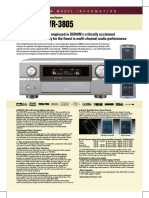 Manual Denon DVD Player AVR-3805