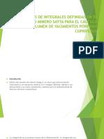 Aplicaciones de Integrales Definidas en El Proyecto Minero Power Point