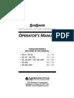 Sunsaver - Operation Manual