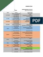 Cronograma de Actividades General 2017-2018 Presencial