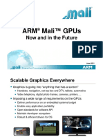 ARM Technical Symposium ARM GPUs Now and in the Future
