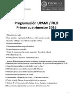 Programación UPAMI FILO - 1er Cuatrimestre 2016