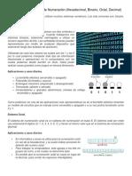 Aplicaciones Sistemas de Numeración