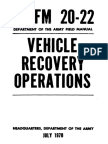 FM20-22 Vehicle Recovery Operations 1970