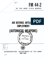 FM44-2 Air Defense Artillery Employment (Automatic Weapons) 1966