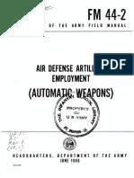 FM44-2 Air Defense Artillery Employment (Automatic Weapons) 1966