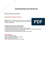 Planeacion Estrategica de Proyectos