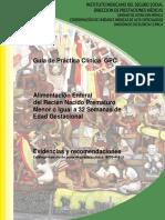 GPC para el manejo de Nutrición Enteral