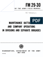 FM29-30 Maintenance Battalion and Company Operations in Divisions and Separate Brigades 1968