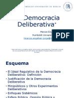 La Democracia Deliberativa_2015-2016