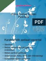 Kontrol Kualitas Sediaan Parenteral