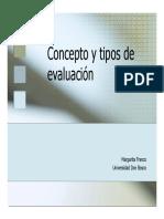 Conceptos y Tipos de Evaluacion