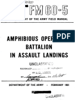 FM60-5 Amphibious Operations Battalion in Assault Landings 1951