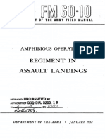 FM60-10 Amphibious Operations Regiment in Assault Landings 1952