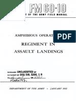 FM60-10 Amphibious Operations Regiment in Assault Landings 1952