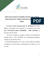 Pedido de Formalizacion del fiscal Morosoli