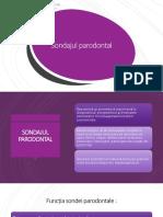 Sondajul parodontal