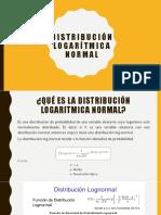 Distribución Logarítmica Normal