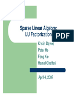 LU Factorization of Systems Linear