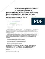 Decreto Legislativo 1132 - Nueva Estructura de Ingresos y Policial de La Policia Nacional Del Per