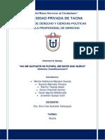 Proyecto Social Derecho Constitucional II